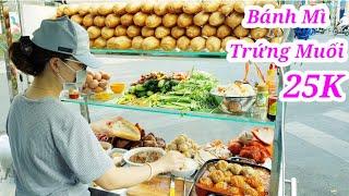Phát thèm bánh mì xíu mại trứng muối, xôi đùi gà của của 2 chị gái Sài Gòn
