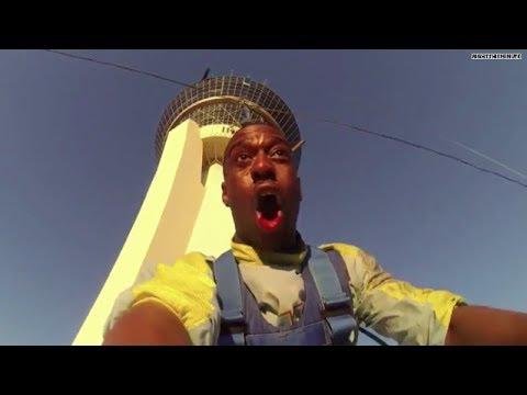 Vegas thrill-seeker screams as he falls over 800 feet