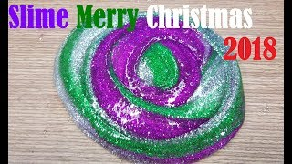 DIY Glitter Christmas Slime, How to 3 Colored No Borax Holiday Slime!, Merry Christmas 2018