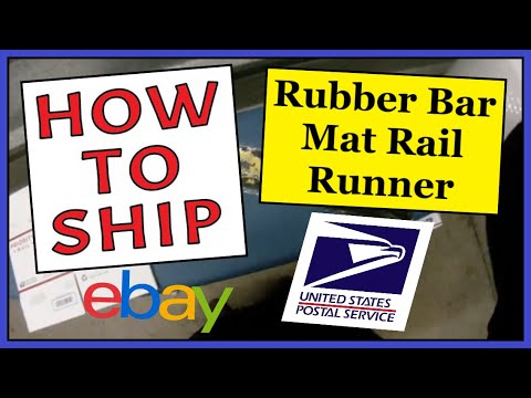 How To Ship a Rubber Bar Mat Rail Runner | Safe, Fast & Cheap | USPS Priority Shipping Mailing Box