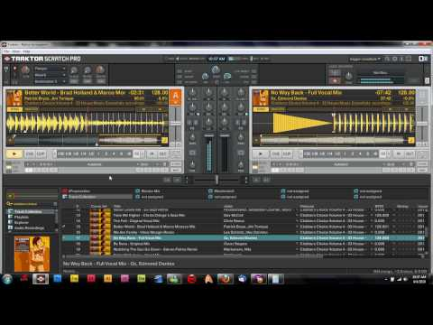 Traktor Mixing Tutorial - Mixing in the break down of a song