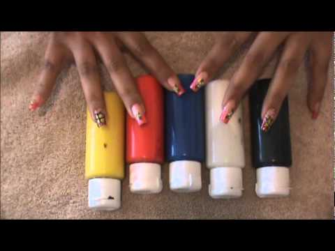 Brushes Paints For Nail Art Youtube