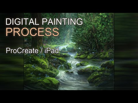 Digital Painting – Fantasy Forest – Time Lapse
