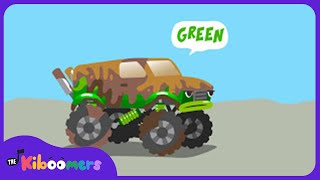 Monster Truck Car Wash Song for Kids | Learn Colors with Monster Trucks | The Kiboomers