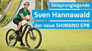 Die skisprunglegende sven hannawald fährt den ep8 – das neue e-bike-system von shimano.2002 gewann als erster sportler alle vier läufe der vie...