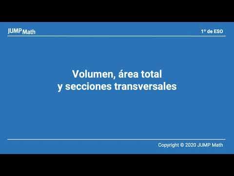 Unidad 6. Volumen, área total y secciones transversales