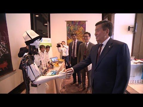 Жээнбеков менен УЧУРАШКАН Кыргыз РОБОТ   Акыркы Кабарлар