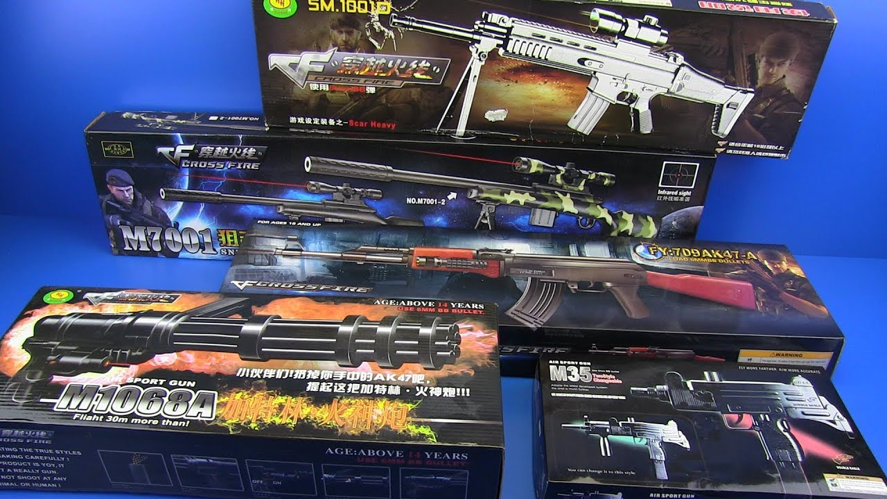 Box of Toys ! Military Guns Video for Kids - Guns Toys for Kids , Machine  gun