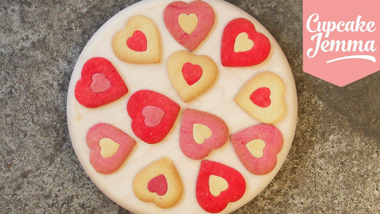 Valentineu0027s Heart Cookie Recipe   Cupcake Jemma   YouTube