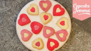 Valentine's Heart Cookie Recipe | Cupcake Jemma