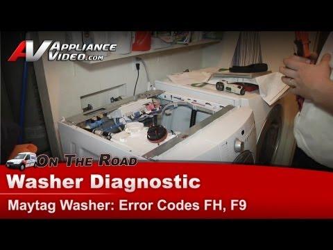 Washer Diagnostic & Repair  - Error codes FH, F9 - Maytag , Whirlpool MFW9800TQ0