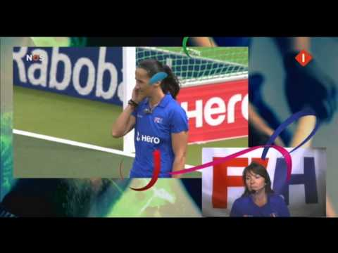 Nederland - Australie WK Hockey Dames 2014 2-0 Kim Lammers