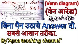 Venn diagram reasoning tricks in hindi, Ven daigram problem, By Apna teaching channel, By Rahul Sir