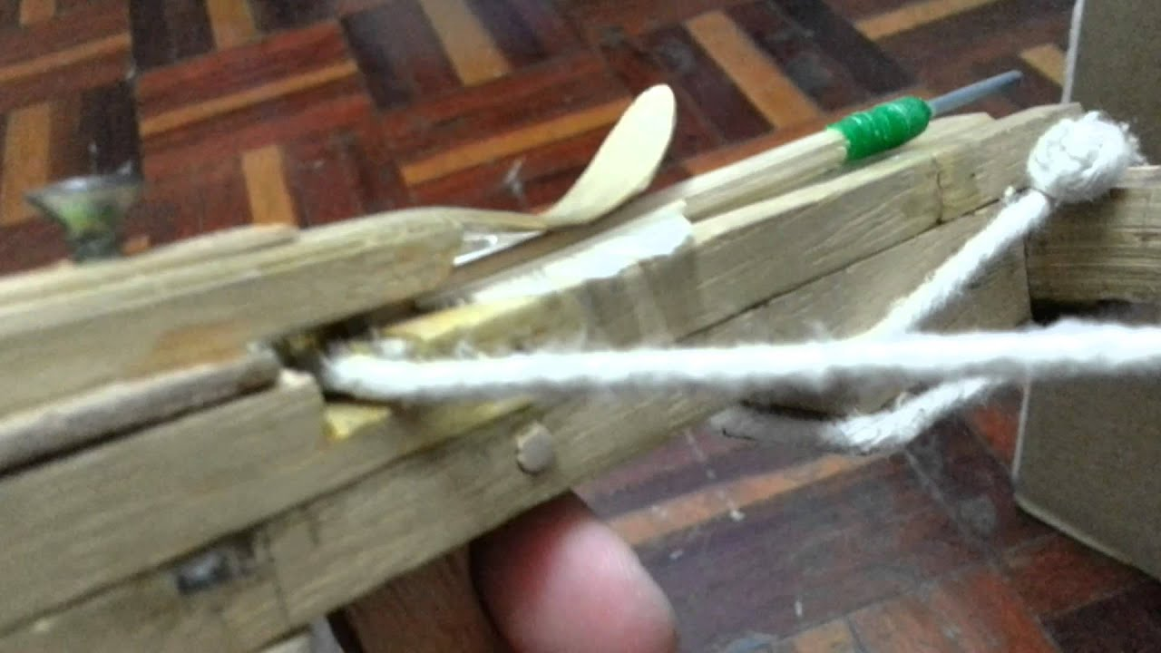 how to make a homemade crossbow