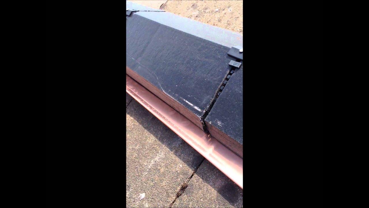 Secure Copper Under Ridge Anti Moss Youtube