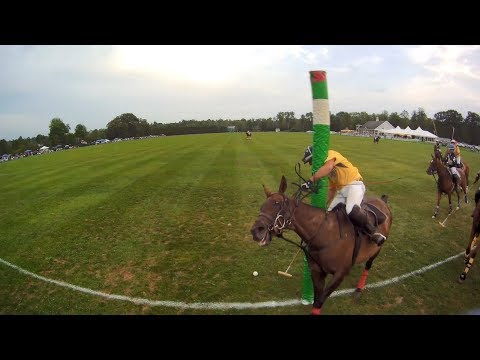 Cullen Howe going for the save at Saratoga Polo Club is recorded by a ProEyes Helmet Camera