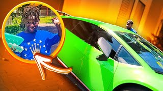WE DESTROYED THE PRINCE FAMILY LAMBORGHINI PRANK**BAD IDEA**