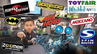 New SPY GEAR & AIR HOGS at Spin Master NY TOY FAIR - Sick Bricks, Zoomer, Meccano, Quick Cups