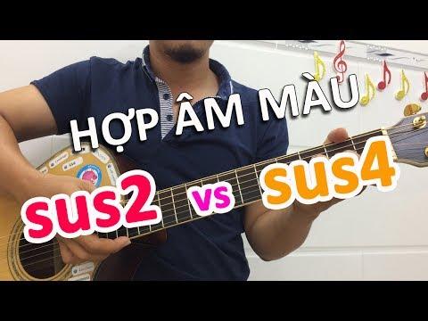 Cách Ghi Nhớ Hợp âm Màu SUS2 Và SUS4 Rất đơn Giản   Học đàn Guitar Online   Học đàn Guitar Cơ Bản