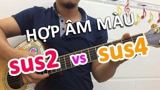 Cách ghi nhớ hợp âm màu SUS2 và SUS4 rất đơn giản | Học đàn guitar online | Học đàn guitar cơ bản