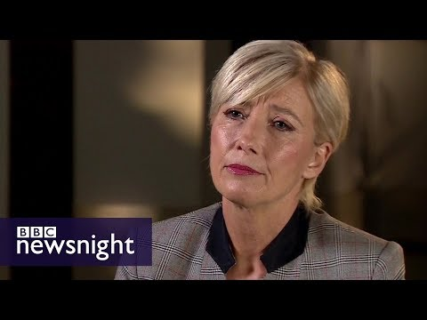Thumbnail: Emma Thompson: Harvey Weinstein 'top of harassment ladder' - BBC Newsnight