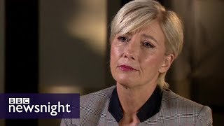Emma Thompson: Harvey Weinstein 'top of harassment ladder' - BBC Newsnight