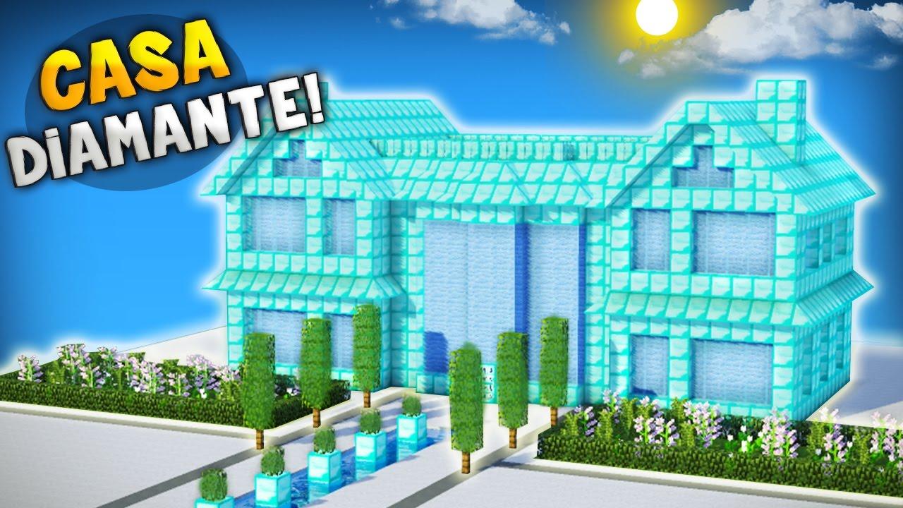 Minecraft como seria una casa hecha 100 de diamante for Como crear una casa