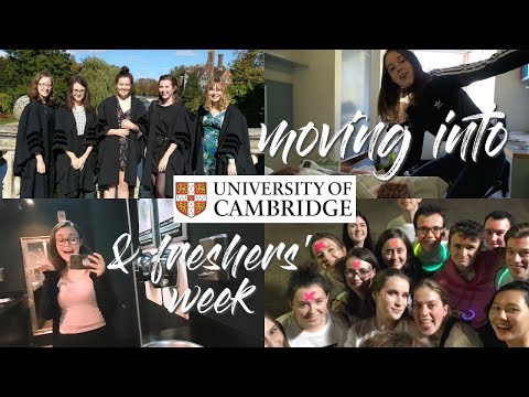 MOVING INTO THE UNIVERSITY OF CAMBRIDGE // FIRST YEAR FRESHERS' WEEK VLOG 2018