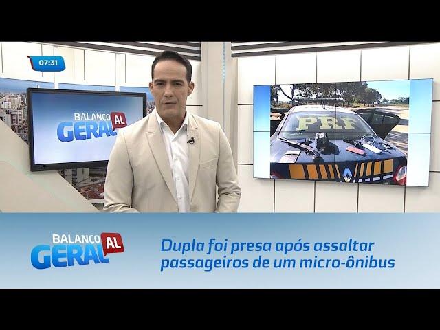 Dupla foi presa após assaltar passageiros de um micro-ônibus em Pilar