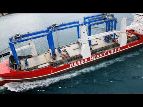 HHL Kobe completes passage through the Bosporus Strait with four RTG cranes on deck