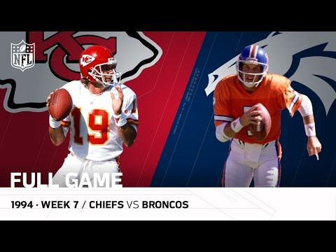 Chiefs vs. Broncos: Joe Montana vs. John Elway The Final down  Week 7, 1994  NFL Full Game