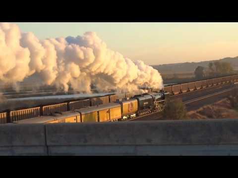 Union Pacific 844 Departs North Platte, NE Eastbound 2016