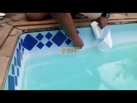 Pastilhas Adesivas Faixas Para Borda De Piscina Youtube