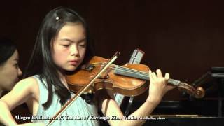 Allegro Brillante…..W. Ten Have / Kayleigh Kim, Violin