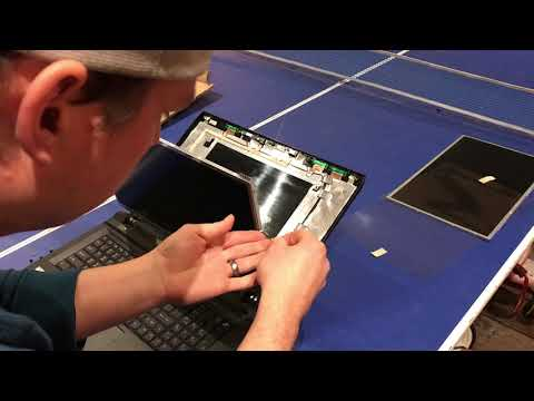 Laptop Screen Replacement / How To Replace Laptop Screen Sager P375sm