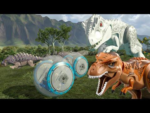 lego jurassic world all dinosaur chase sequences