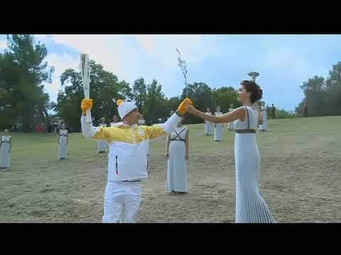 Olympic flame lit in Greece for 2018 games