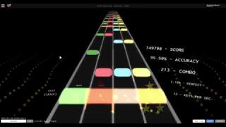 Roblox Rhythm Track 1191 combo on expert (Night of Nights)