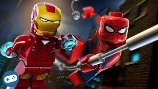 Lego Marvel's Avengers Spiderman and Iron Man Free Roam Gameplay