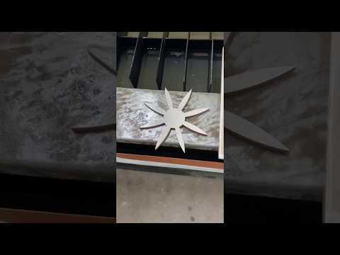 Результат работы гидроабразивной резки, пример на керамической плитке