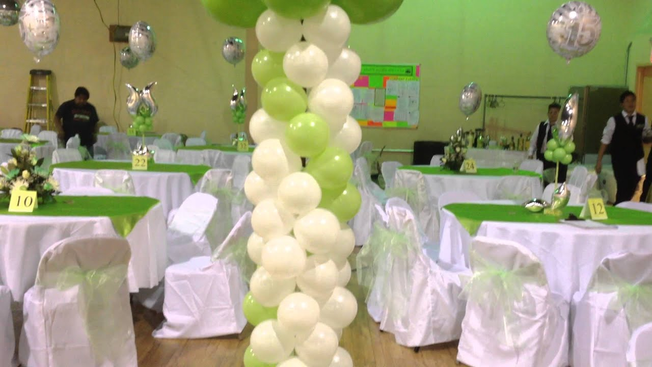 Decoracion con globos 15 anos youtube - Decoracion con globos 50 anos ...