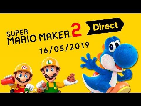 Reacción en directo con KKhuet al Super Mario Maker 2 Direct 16.5.2019