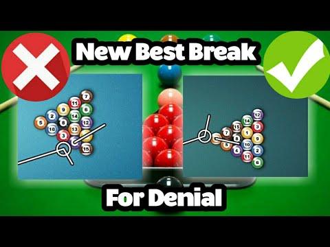 8 Ball Pool Best Breaks To Play Denial | Top 3 Breaks