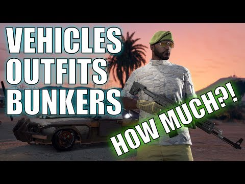 GTA Online - 💥GUN RUNNING💥 DLC PRICES (vehicles/bunkers/outfits)