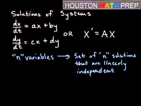 Homogeneous Systems of Linear Equations - Intro to Eigenvalue/Eigenvector Method
