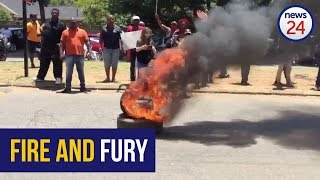 WATCH: Fire and chaos as EFF chant 'anti-boer' songs #HoërskoolOverva