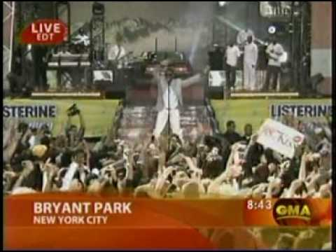 Usher Performing Moving Mountains on Good Morning America