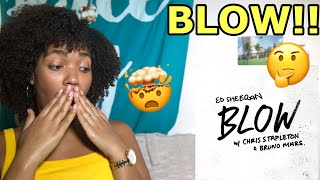 ED SHEERAN NEW SONG!! BLOW ft. CHRIS STAPLETON AND BRUNO MARS (AUDIO) REACTION Video