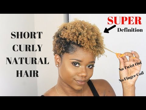 HOW TO MAKE YOUR SHORT NATURAL HAIR CURLY Ft. Lotta Body Products  | Tapered Cut Natural Hair