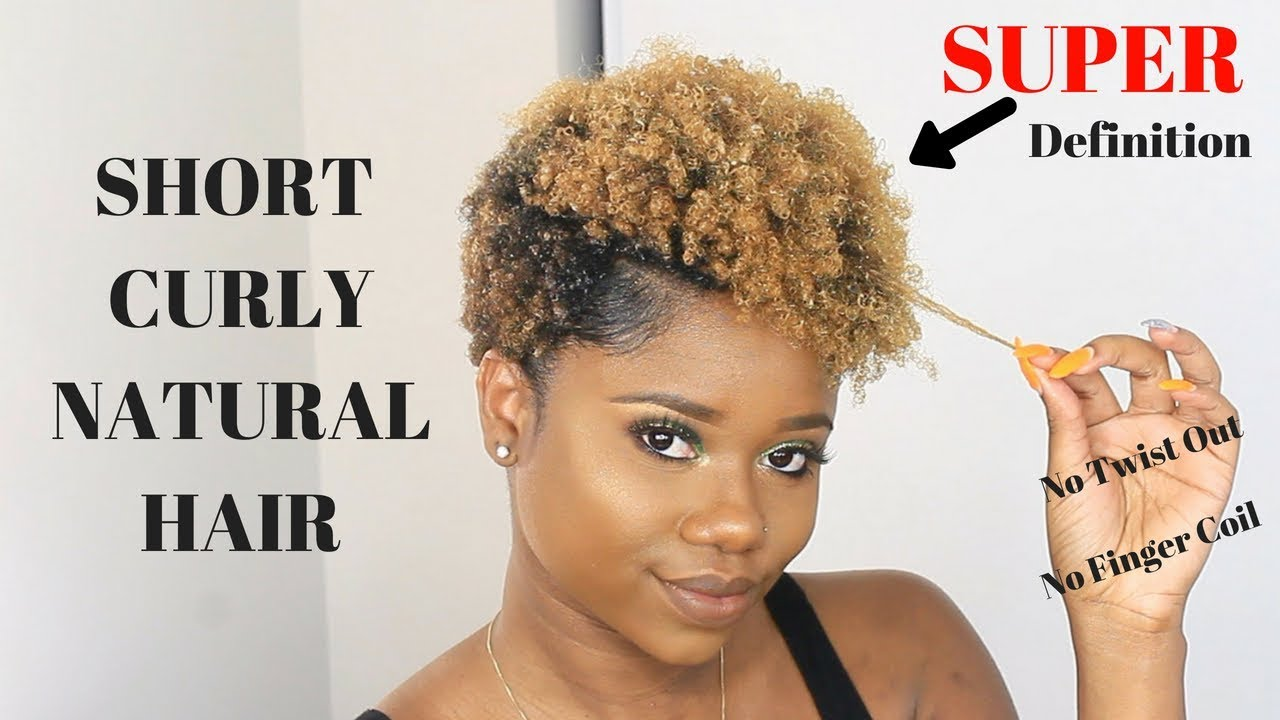 HOW TO MAKE YOUR SHORT NATURAL HAIR CURLY ft. Lotta Body ...